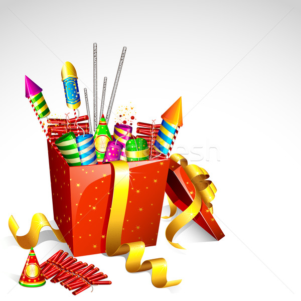 Firecracker in Gift Box Stock photo © vectomart