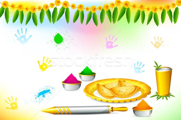 Happy Holi Wallpaper Stock photo © vectomart