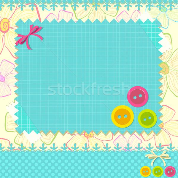 альбом макет иллюстрация кружево кнопки моде Сток-фото © vectomart