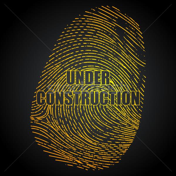 строительство пальца печать иллюстрация впечатление аннотация Сток-фото © vectomart