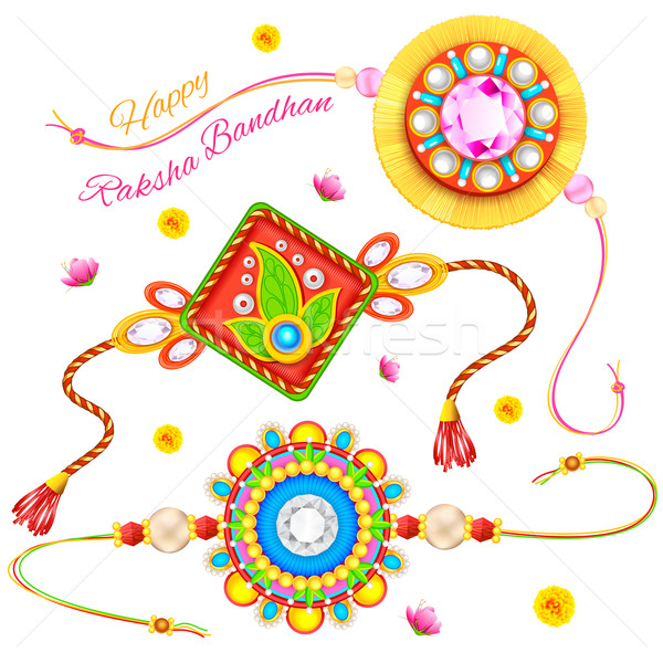 Decorative Rakhi for Raksha Bandhan Stock photo © vectomart