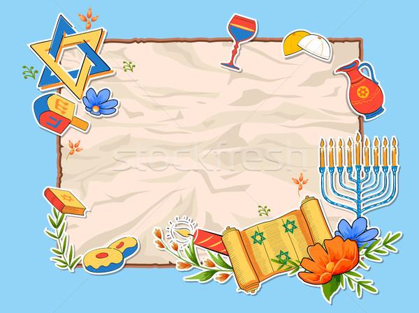 Heureux vacances illustration livre fond star Photo stock © vectomart