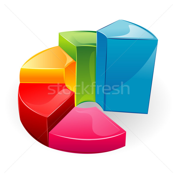 Glossy Bar Graph Stock photo © vectomart
