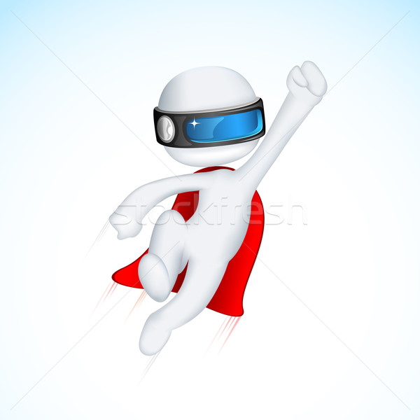 3d Superhero in Vactor Stock photo © vectomart