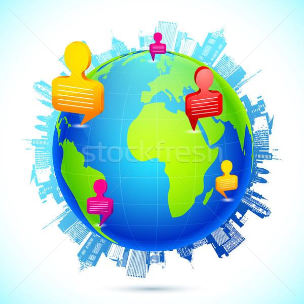 Worldwide Human Networking Stock photo © vectomart