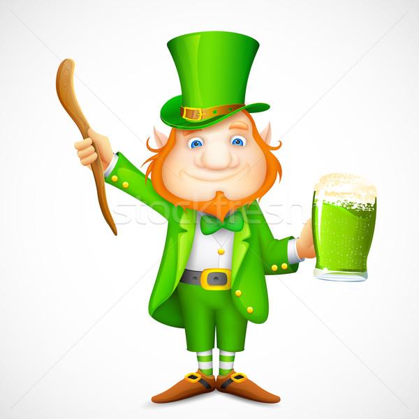 Leprechaun wishing Saint Patrick's day Stock photo © vectomart