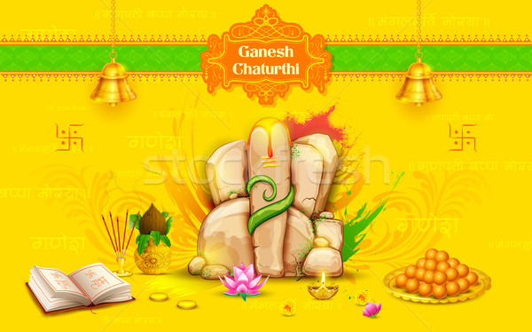 Statue of Lord Ganesha made of rock for Ganesh Chaturthi Stock photo © vectomart