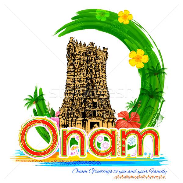 Meenakshi temple in Onam celebration background Stock photo © vectomart