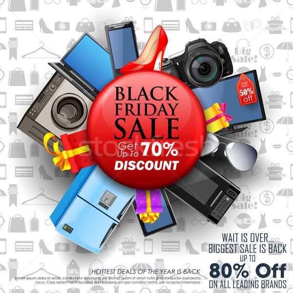Black friday venda compras oferecer promoção alegre Foto stock © vectomart