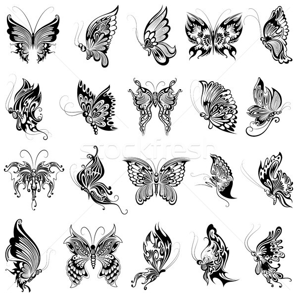 Tattoo art design of Butterfly collection Stock photo © vectomart