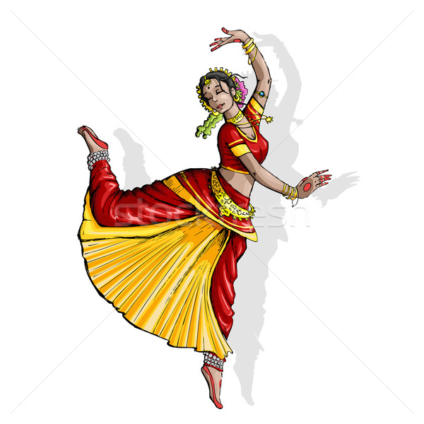 Indian Classical Dancer Stock photo © vectomart