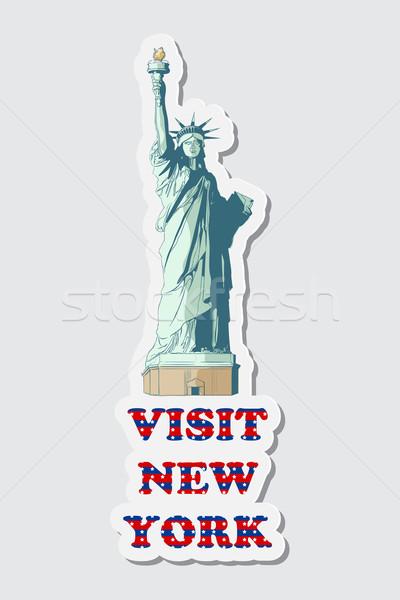 Visit New York Sticker Stock photo © vectomart
