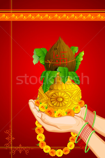 Hand offering Prayer Stock photo © vectomart