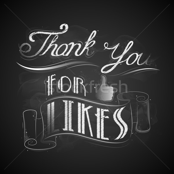 Thank you for Likes Stock photo © vectomart