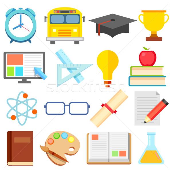 Flat Education Icon Stock photo © vectomart