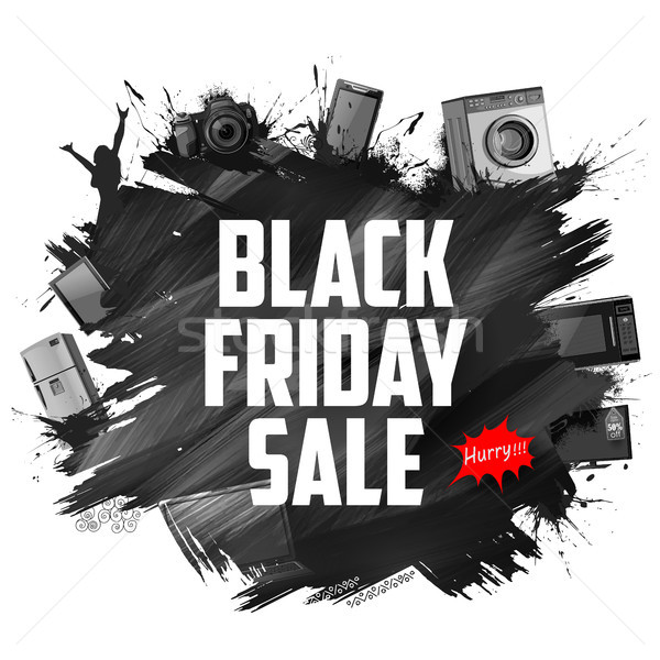 Black Friday Sale shopping Offer and Promotion Background on eve of Merry Christmas Stock photo © vectomart