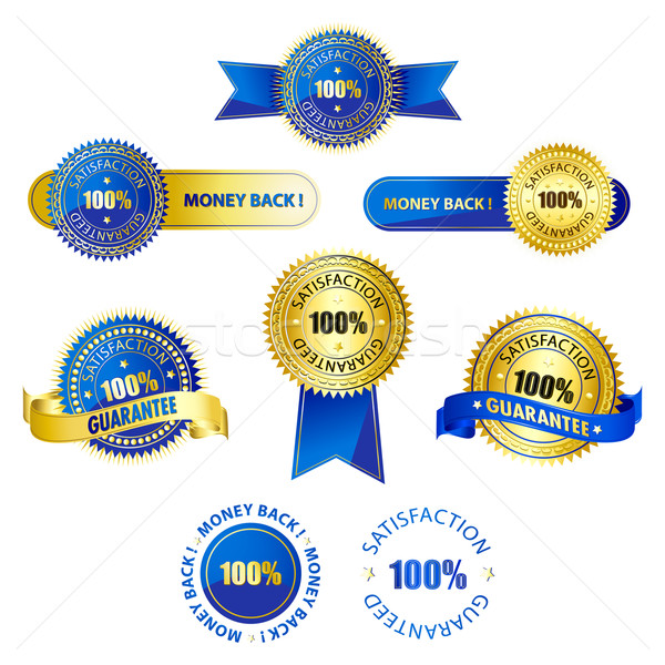 Badges illustration ruban isolé sport Photo stock © vectomart