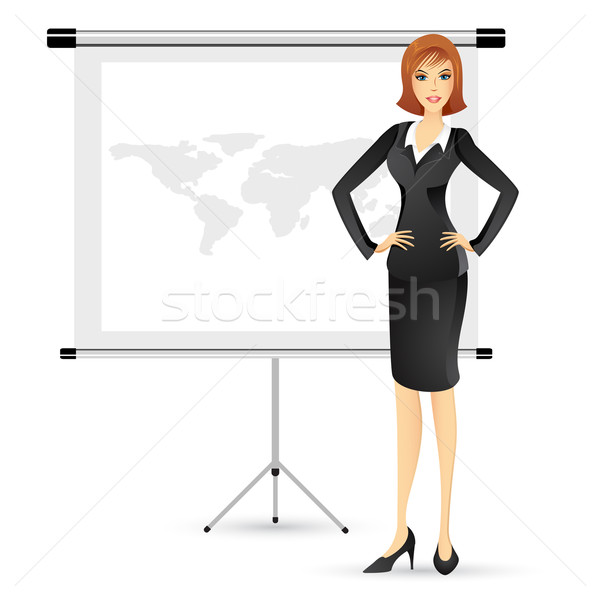 Businesslady giving Presentation Stock photo © vectomart