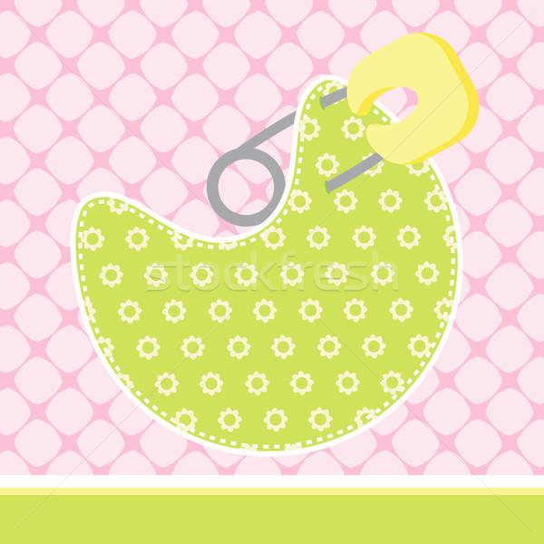 Bebek varış kart örnek kitap kalp Stok fotoğraf © vectomart