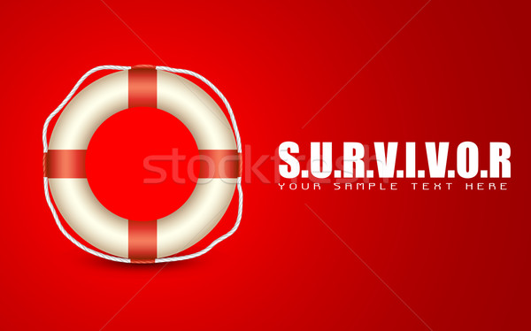 Lifebuoy on Survivor Background Stock photo © vectomart