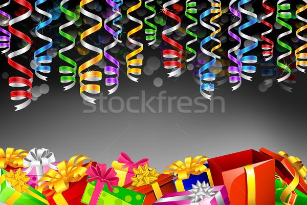 Geschenkdoos illustratie kleurrijk opknoping partij Stockfoto © vectomart