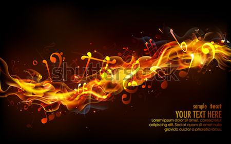 Fiery Music Stock photo © vectomart