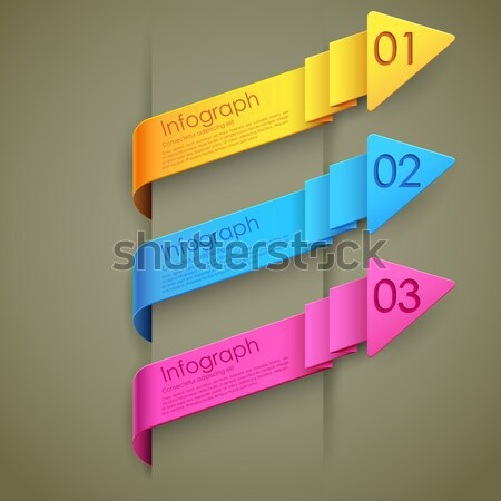 Инфографика опции баннер иллюстрация стрелка презентация Сток-фото © vectomart