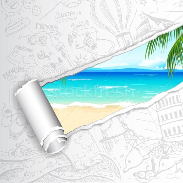Travel Background for Sea Beach Stock photo © vectomart