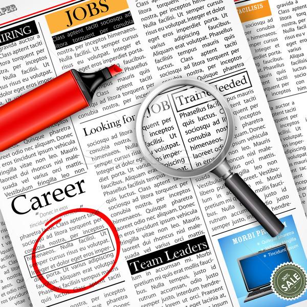 Stock photo: Job Search in Newspaper