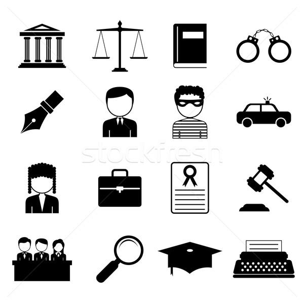 Recht justitie icon illustratie ontwerp advocaat Stockfoto © vectomart