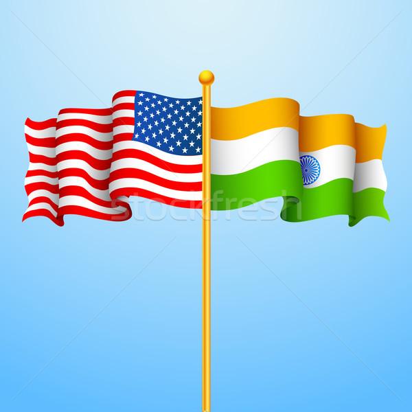 Relação ilustração bandeira financiar papel de parede bem-vindo Foto stock © vectomart