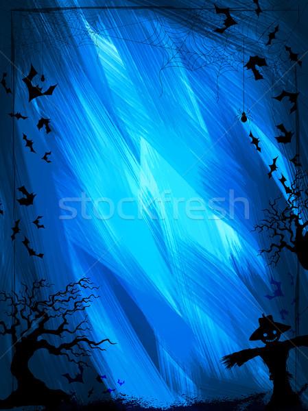 Happy Halloween holiday night celebration background Stock photo © vectomart