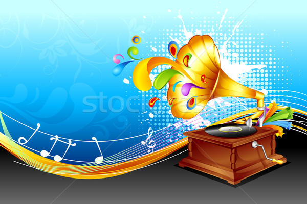 Gramaphone in abstract background Stock photo © vectomart