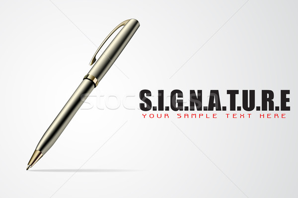 Pen on Signature Background Stock photo © vectomart