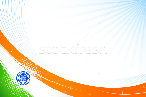 Indian vlag illustratie driekleur abstract reizen Stockfoto © vectomart
