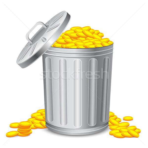 Dustbin full of Coin Stock photo © vectomart