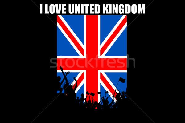Brithish People Cheering Stock photo © vectomart