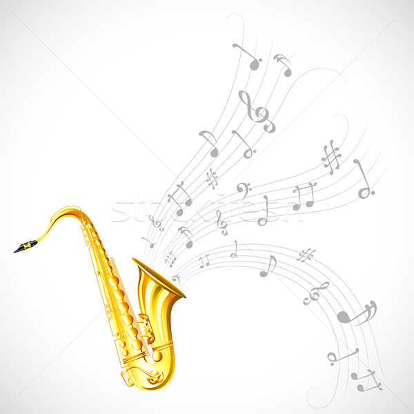 Music Tune from Saxophone Stock photo © vectomart