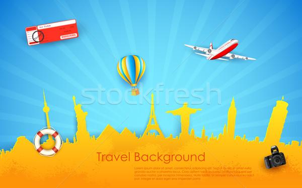Tur seyahat örnek Bina uçak mimari Stok fotoğraf © vectomart