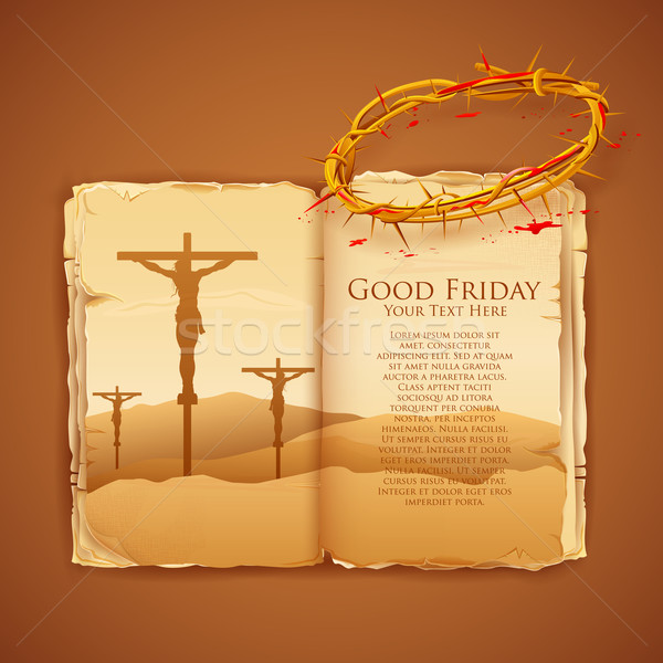 Jesus Christ on cross on Good Friday Bible Stock photo © vectomart