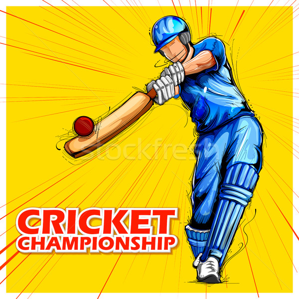 Spielen Cricket Meisterschaft Sport Illustration Hintergrund Stock foto © vectomart