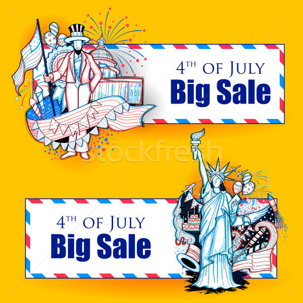 4th of July Independence Day of America promotional advertisement background Stock photo © vectomart