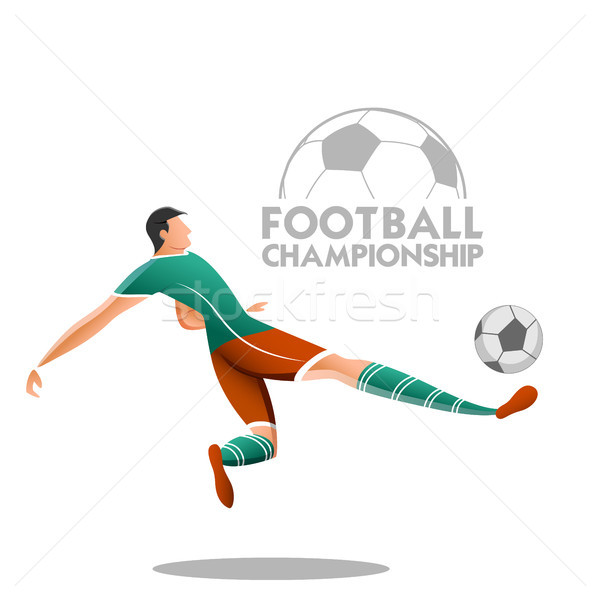 Football Championship Cup soccer sports background for 2018 Stock photo © vectomart