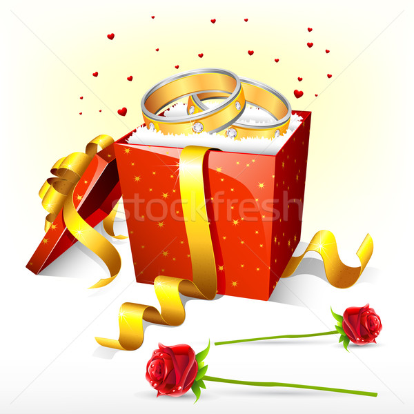 Engagement Ring on Gift Box Stock photo © vectomart