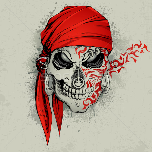 Skull Background Stock photo © vectomart