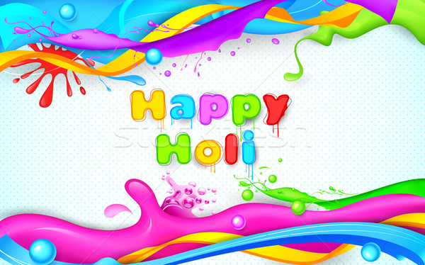 Colorful Splash in Holi Wallpaper Stock photo © vectomart