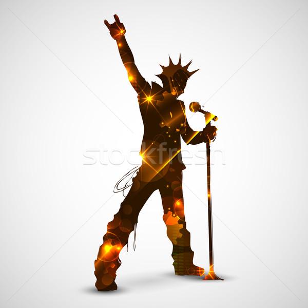 Stock photo: Singing Rock Star