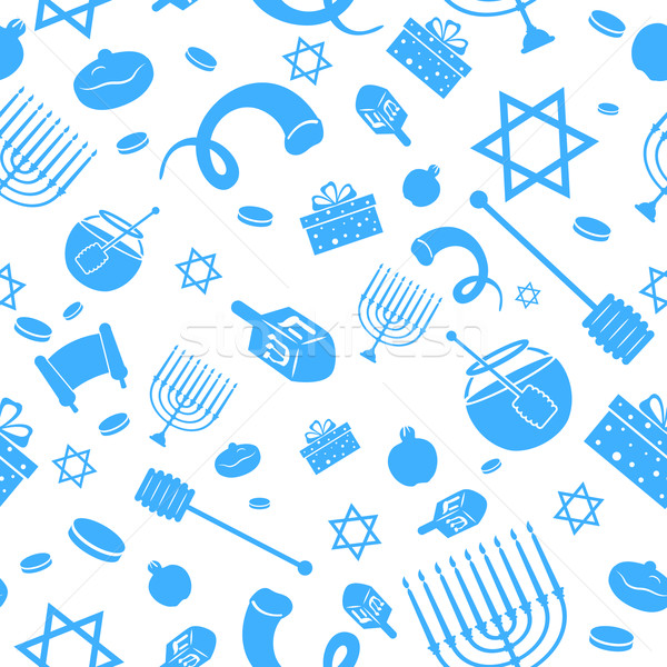 Seamless Israeli Holiday Pattern Stock photo © vectomart
