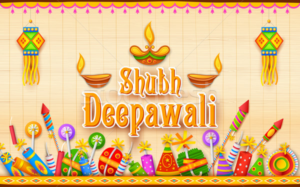 Happy Diwali Background Stock photo © vectomart