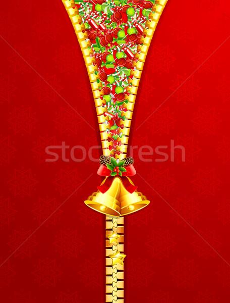 Unzipping Candies Stock photo © vectomart